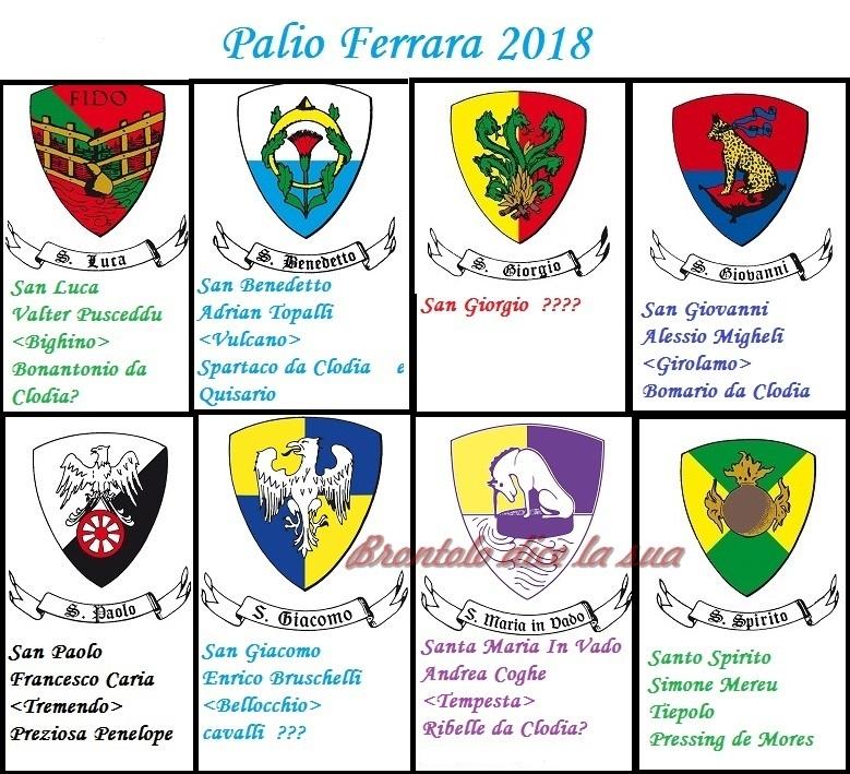 PALIO FERRARA 2018 TIMBRATO